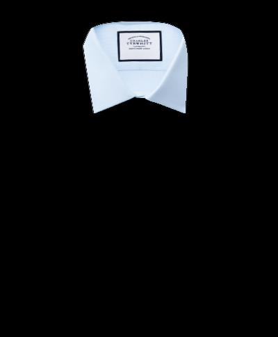Chemise bleu ciel en oxford royal de coton égyptien slim fit