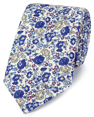 Royal multi silk floral print Italian luxury tie