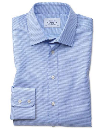 Classic fit Egyptian cotton diamond pattern sky blue shirt