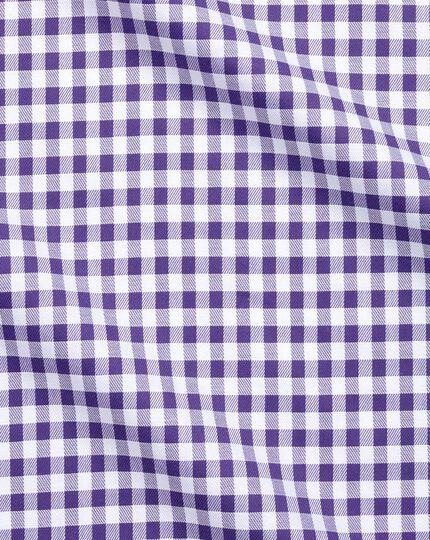 Chemise vichy violette extra slim fit sans repassage