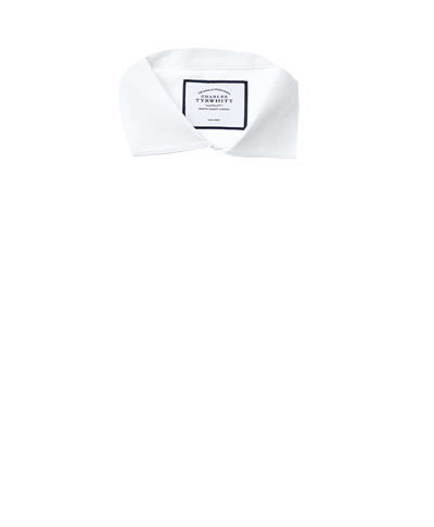 Classic fit white non-iron poplin cutaway collar shirt