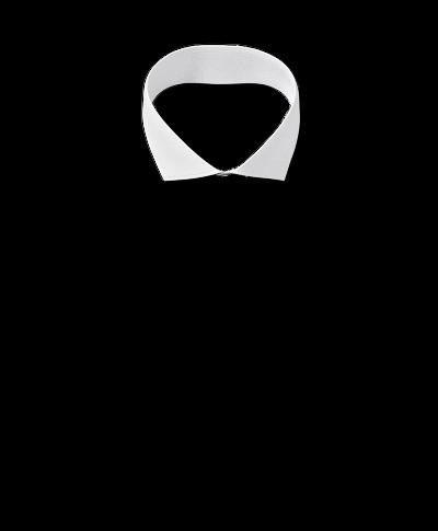Slim fit white non-iron poplin cutaway collar shirt