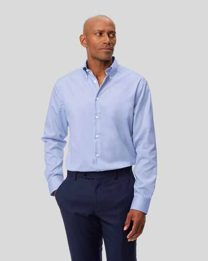 Button-Down Collar Non-Iron Shirt - Sky