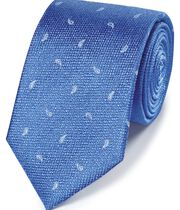Bright blue paisley classic tie