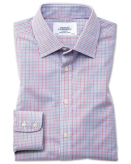 Classic fit non-iron multi grid check shirt
