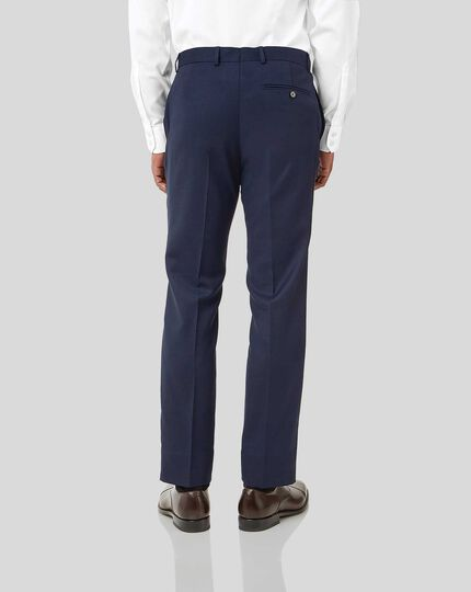 Birdseye Half Canvas Suit Pants - Ink Blue