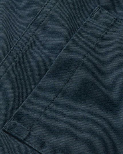 Teal slim fit 5 pocket Pants