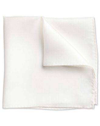 White evening silk pocket square