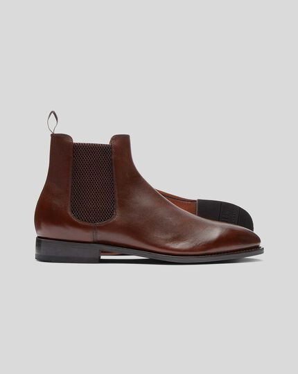 Goodyear Welted Chelsea Boot  - Brown
