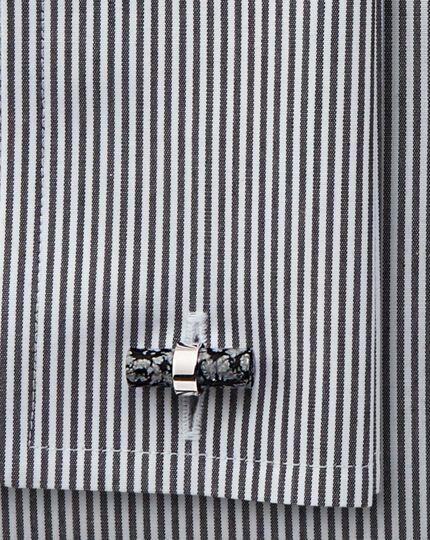 Snowflake stone bar cufflinks