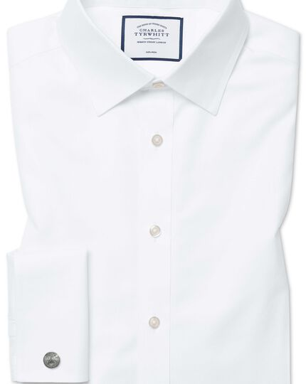 Classic fit white non-iron twill shirt
