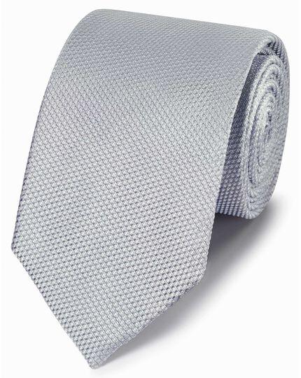 Klassische Krawatte Seide Einfarbig in Silber