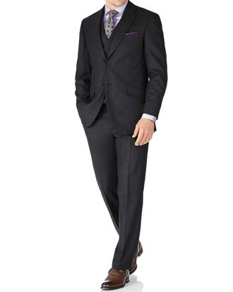 Charcoal classic fit British serge luxury suit