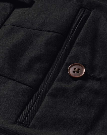 Black slim fit stretch chinos