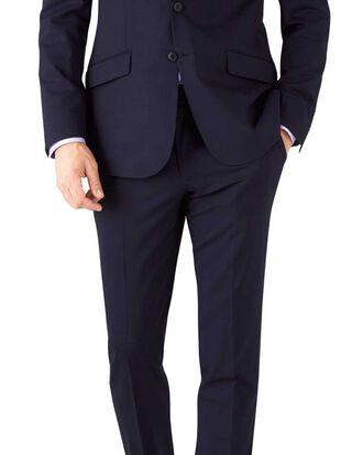 Navy slim fit performance suit