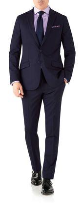 Navy slim fit performance suit