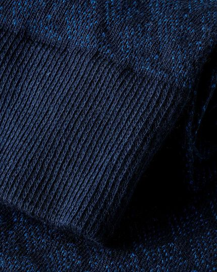 Semi-Plain Socks - Navy & Royal Blue
