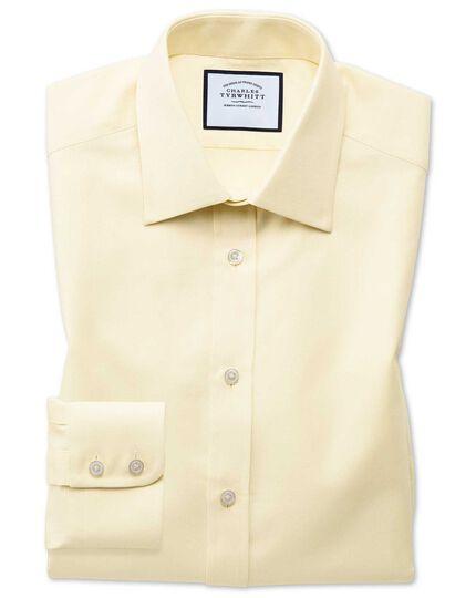 Slim fit Egyptian cotton royal Oxford yellow shirt