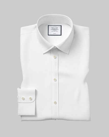 Chemise Col Classique Twill Sans Repassage - Blanc