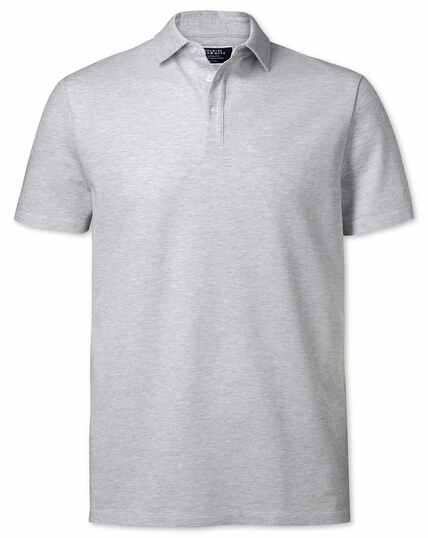 Light grey textured polo