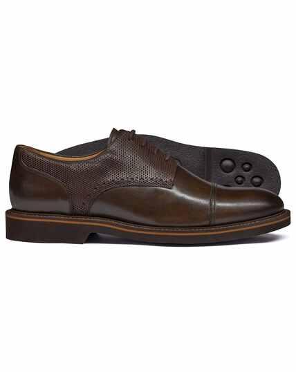 Brown extra lightweight derby shoe