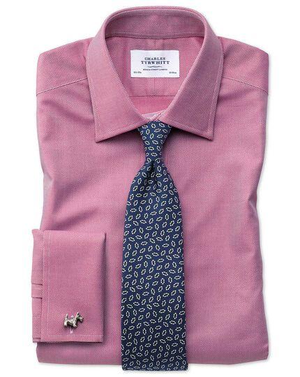 Navy and white silk printed neat English luxury tie