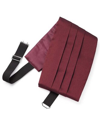 Wine satin Royal cummerbund