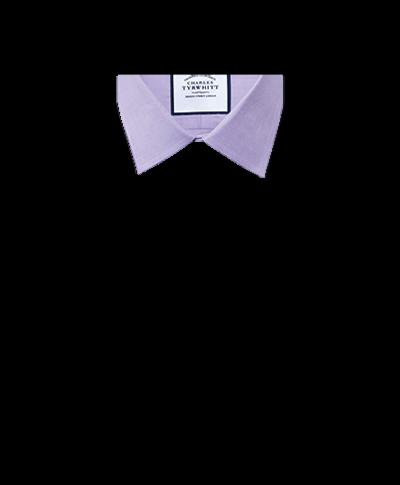 Chemise lilas slim fit à chevrons fins