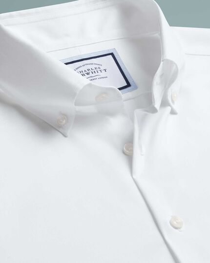 Extra slim fit business casual non-iron white shirt