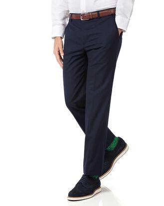 Leichte Slim Fit Hose aus Wolle in Marineblau