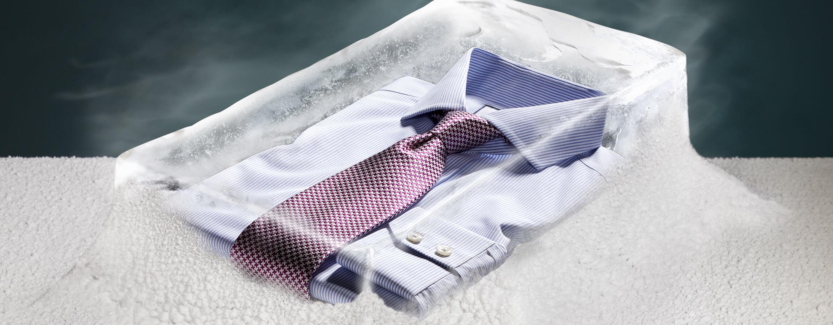 Natural Cool Hemden in vier Farben: blau, rosa, weiß und orange
