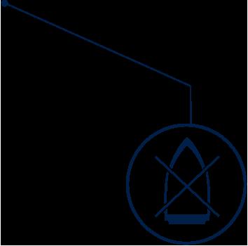 Bügelfrei Symbol