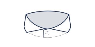 Extreme cutaway collar
