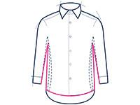 Formal shirt classic fit illustration