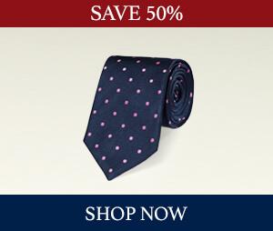Save 50% on ties