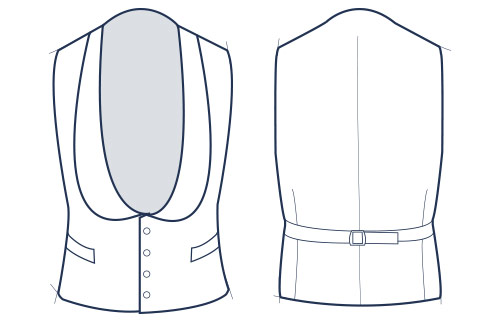 Shawl collar illustration