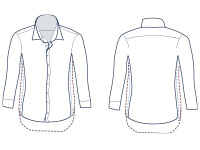Casual shirt extra slim fit illustration