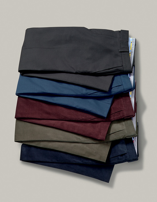 4 pairs of trousers folded