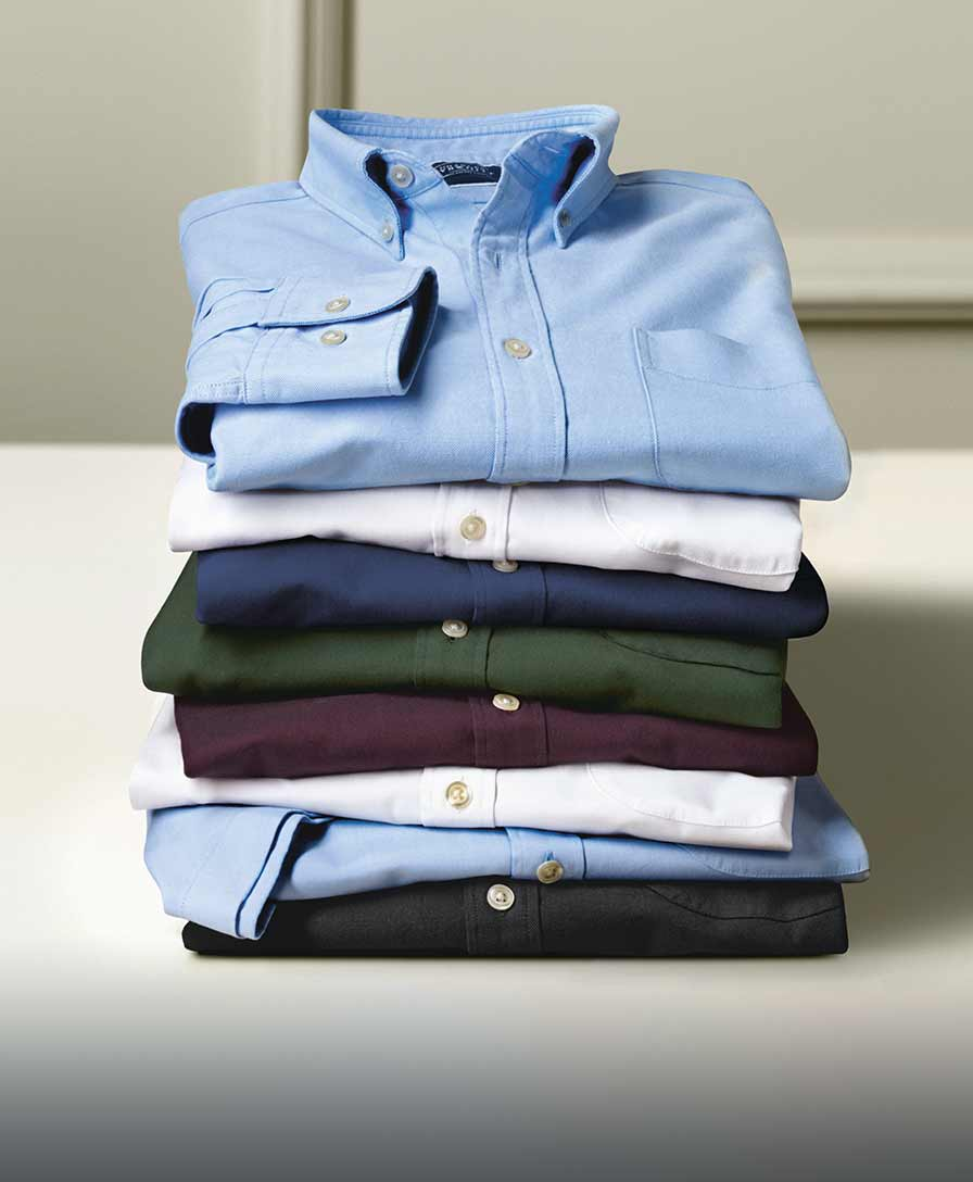 stack of Oxford shirts