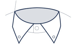 Button-down collar illustration