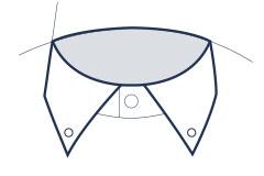 Button-down collar illustration