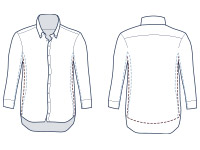 Casual classic fit shirt illustration