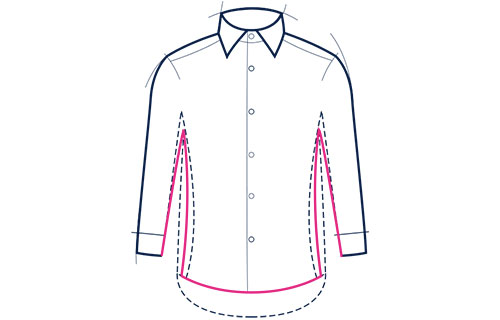 Formal slim fit shirt illustration
