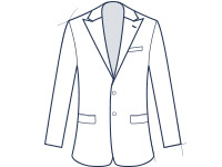 Peak lapel slim fit suit jacket