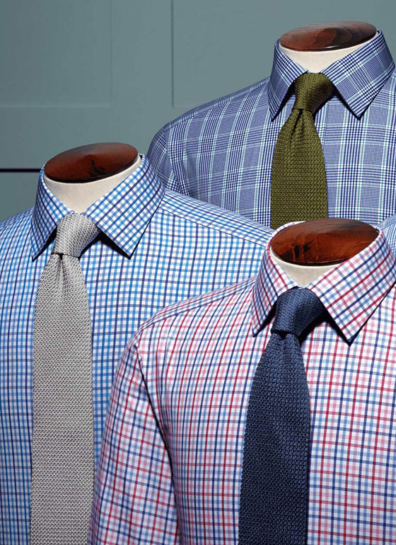 checked poplin shirts