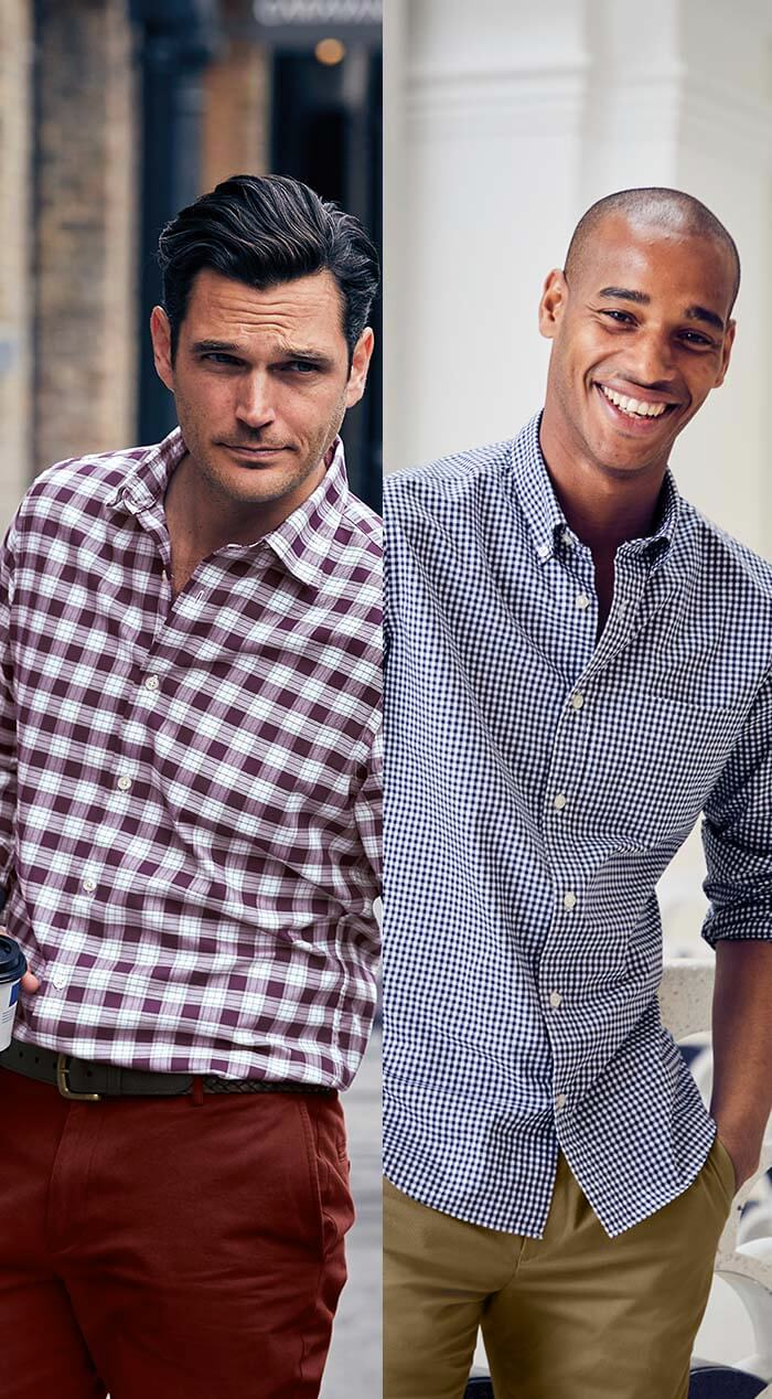 2 men wearing shirts