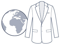 Travel suit illustration