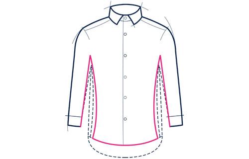 Formal shirt extra slim fit illustration
