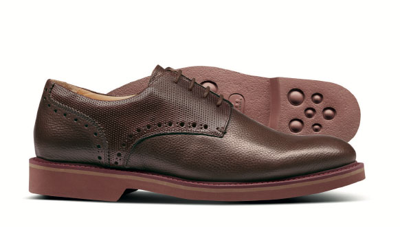 Brown extra lightweight Derby shoes