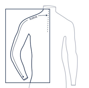 Sleeve measure illustration